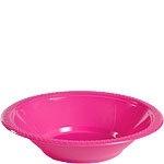 Plastic bowls hot pink (20pcs)