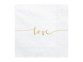 Papieren servetten Love