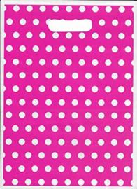 Loot bags pink polka