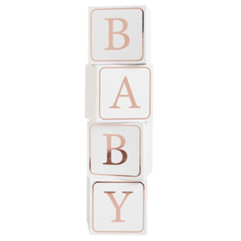 Baby blocks rose gold