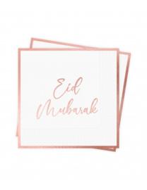 Servetten Eid rose gold foil (10st)