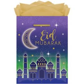 Eid gift bag blauw paars