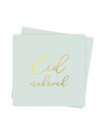 Servetten Eid groen goud (10st)