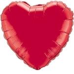 Foil balloon heart red