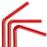 Plastic buigrietjes rood 50st