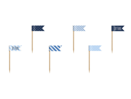 Cupcake flags airplane (6st)