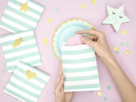 Paper treat bags mint green (6pcs)