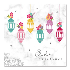 Greeting card Eid lanterns (ea)