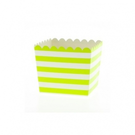 Favor cups lime groen stripes (6st)