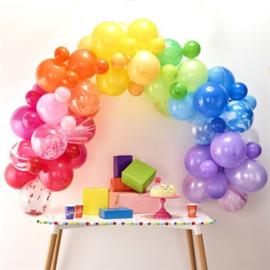 Ballonnenslinger set regenboog