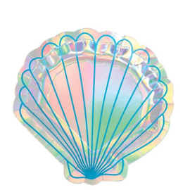 Paper plates mermaid shell (8pcs)