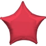 Foil balloon star red
