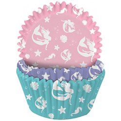 Cupcake cases mermaid (75pcs)
