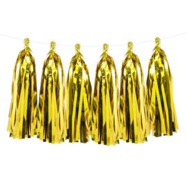 DIY Tassels goud folie(5st)