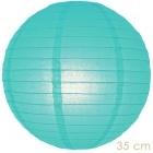 Paper lantern turqoise 35cm