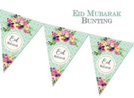 Bunting Eid flower mint