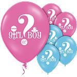 Balloons gender reveal (6pcs)