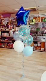 Blue dots balloons (5pcs)
