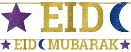 Letter slinger Eid Mubarak Goud blauw
