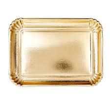 Serveerschaal goud karton (pst)