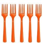 Plastic vorkjes oranje (20st)