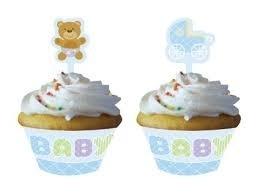 Cupcake kit baby teddy (12st)