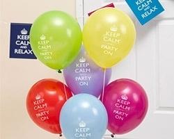 Ballonnen keep calm (8st)