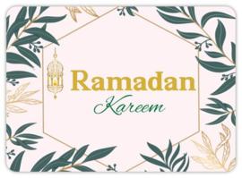 Ramadan wenskaart flowers