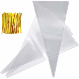 Puntzakjes plastic (12st)