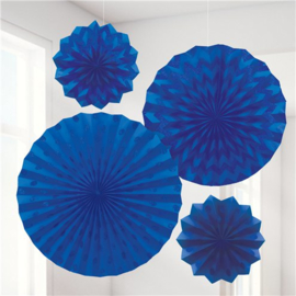 Fanset glitter donker blauw (4-delig)