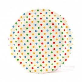 Papieren borden confetti groot (12st)