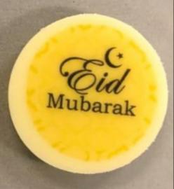 Chocolade schijfjes Eid Mubarak (10st)