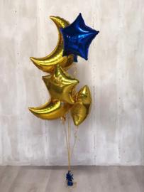 """Foil balloon cresent gold 36"""""""