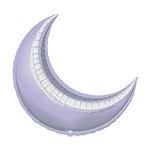 "Foil balloon lilac cresent 26"""