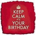 Foil balloon Keep calm your birthday