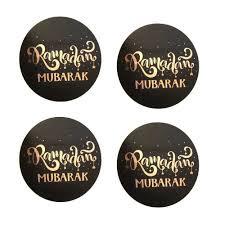 Stickers Ramadan Mubarak rose gold zwart (12st)