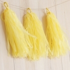 DIY Tassels yellow (5pcs)