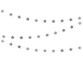 Slinger sterren glimmend zilver 3,6m