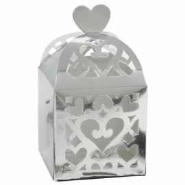 Mini lantern favour box silver (pst)