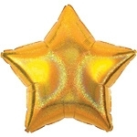 Foil balloon dazzler star gold