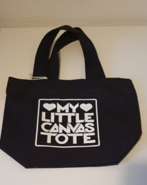 Mini tote bag My little canvas tote