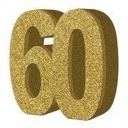 3D cijfer 60 goud