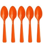 Plastic spoons orange (20pcs)