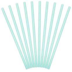 Paper straws mint green (10pcs)