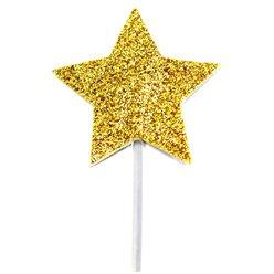 Cupcake prikkers ster goud (12st)
