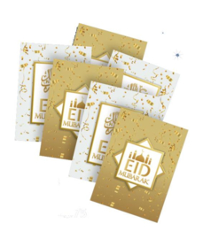 Greeting card Eid white/gold