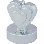 Balloon wieght heart zilver