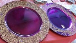 Met de hand beschilderde borden