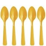 Plastic lepels geel (20st)