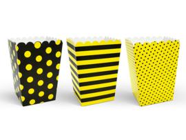 Popcorn box combi geel (6st)
